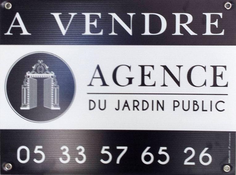 BMJ-publicité Panneau alveolé agence immobilière